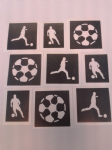 Football & footballer mixed  stencils  for etching on glass craft hobby  soccer Arsenal Chelsea Liverpool Premiership Championship